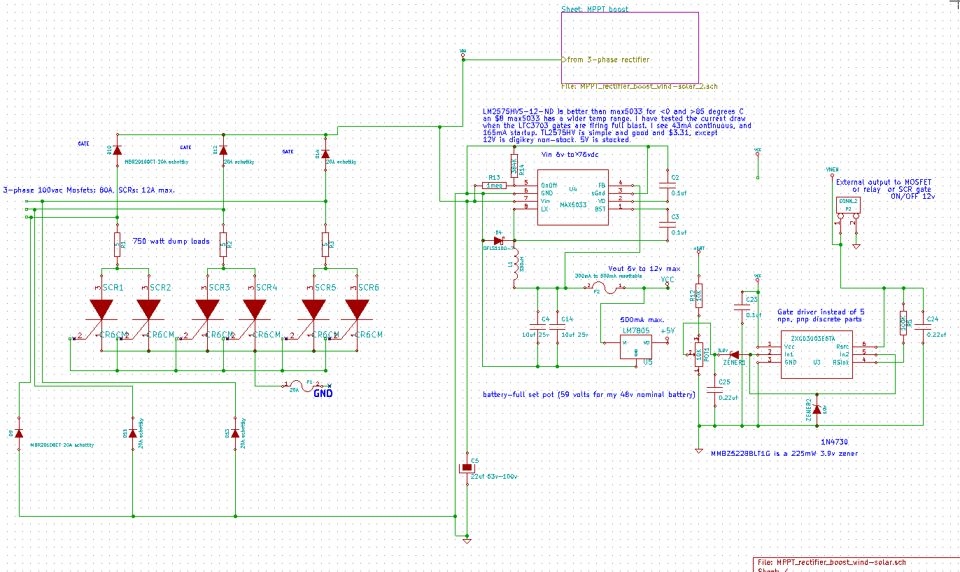 Mppt Solar And Wind Power Boost Charge Controller Opencircuits Arduino Tracker Circuit Schematic On Page1 Input From 3phase